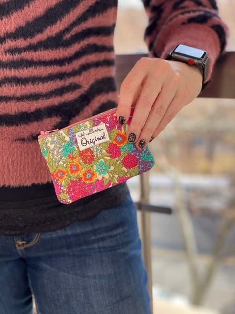 floral coin purse - give away gift