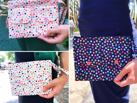 Wristlet Wallets: Fun with Polka Dots