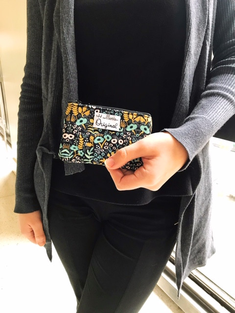 stocking stuffer for women - black coin purse