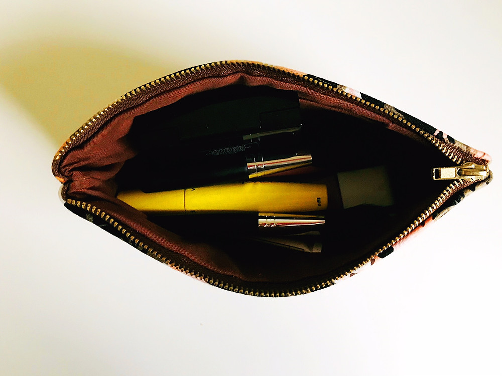 Leather Makeup Bag Inside View