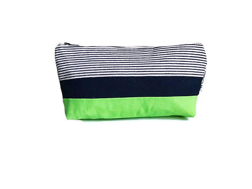 Green Small Canvas Zipper Pouch