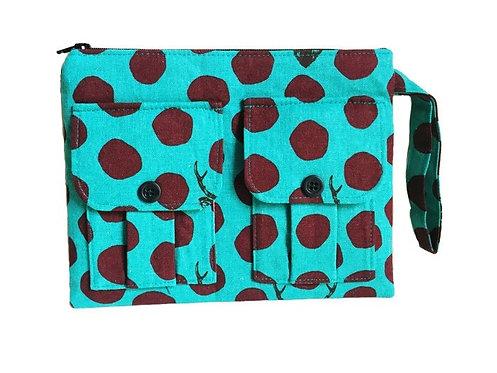 Sambar Turquoise Wristlet Wallet