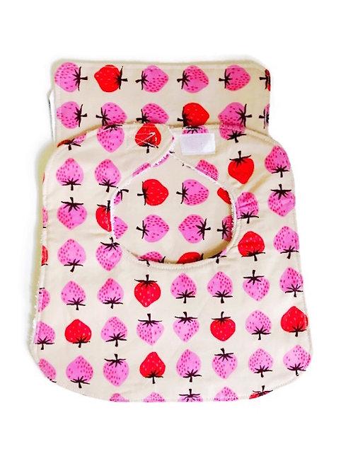 Baby Bib Burp Cloth Set Strawberry