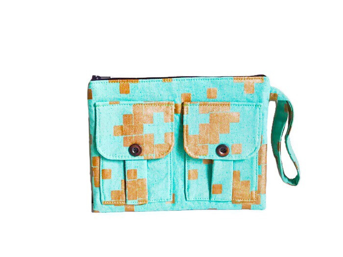Green Gifts for Her - Metallic Wristlet