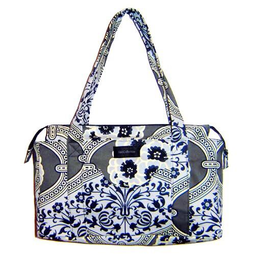 Handmade bag - Grey Floral Print