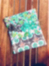 floral clutch bag - clutch purse -  hand