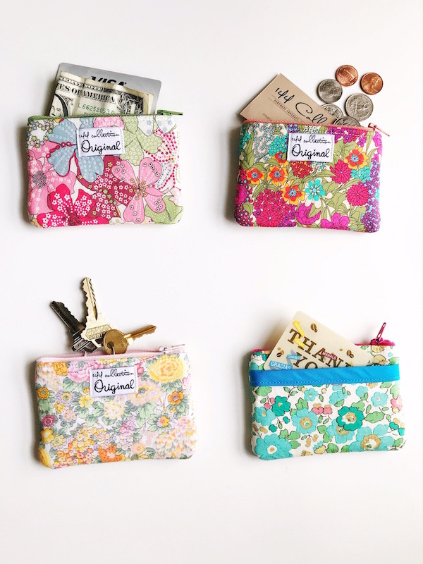 Coin Purse Wallets - Floral Print