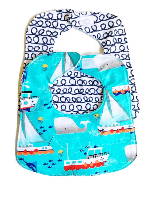 Baby Boy Bibs - Blue Sky Sails Bib