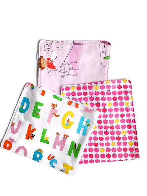 Baby Girl Burp Cloths 3 Pack