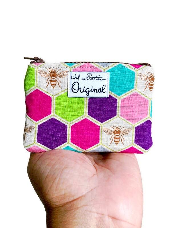 bee print wallet for women