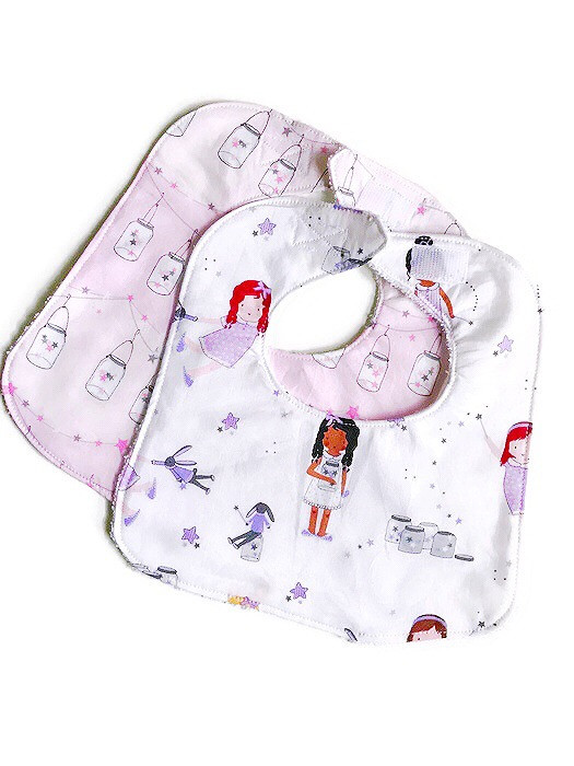 Handmade Baby Bibs and Burp Cloths - Baby Girl Bibs