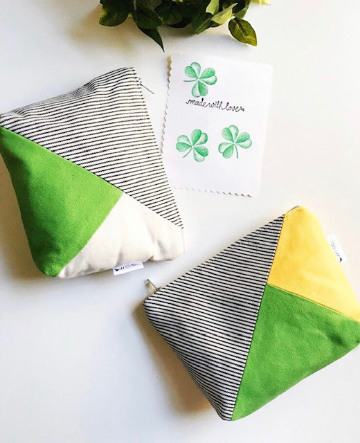 Handmade Card Making - Canvas Bags Green