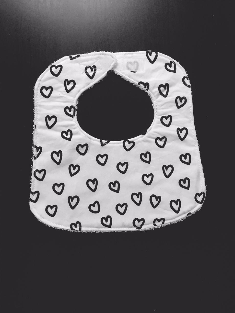 Handmade Baby Bib Hearts