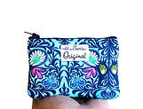 Handmade Coin Purse - Blue Floral Print.