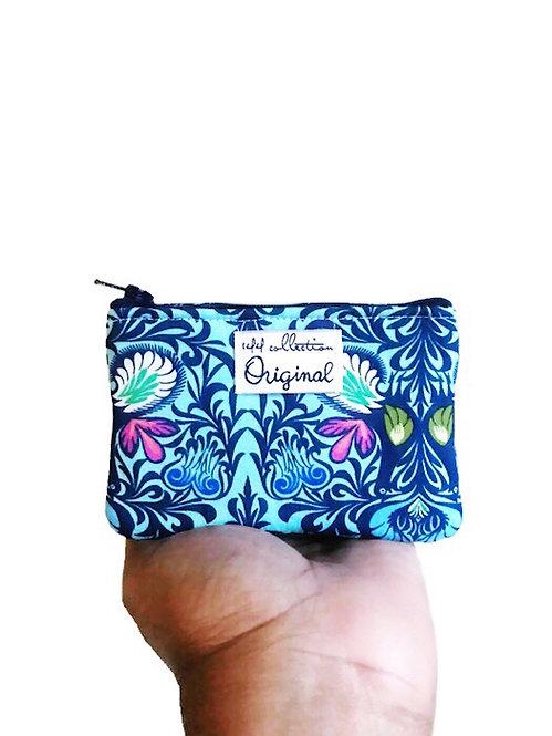 Handmade Coin Purse - Blue Floral Print
