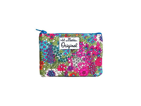 Coin Purse Floral Print Turquoise