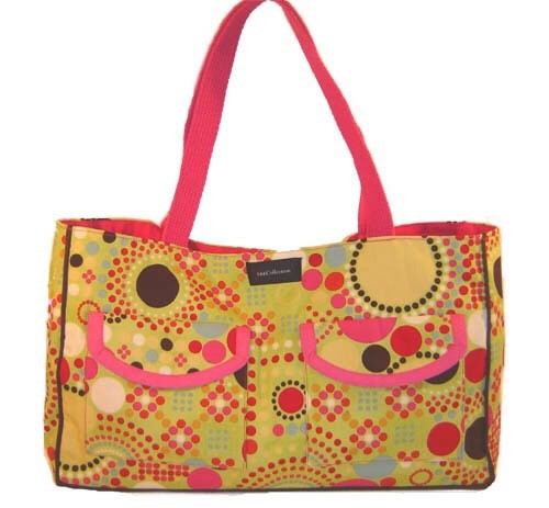 Handmade Bags, Baby Bibs and Accessories - multi dot greenlee bag