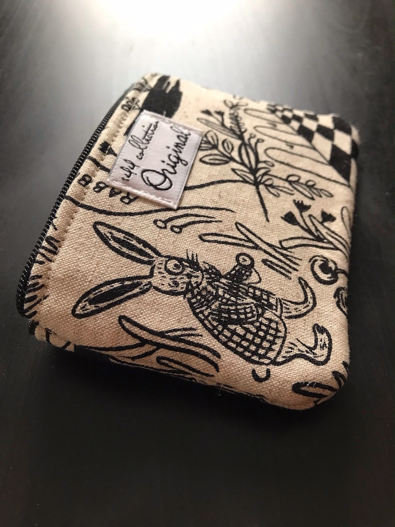 zipper coin purse - bunny print