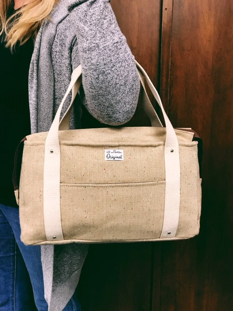 wool tote bag - tan