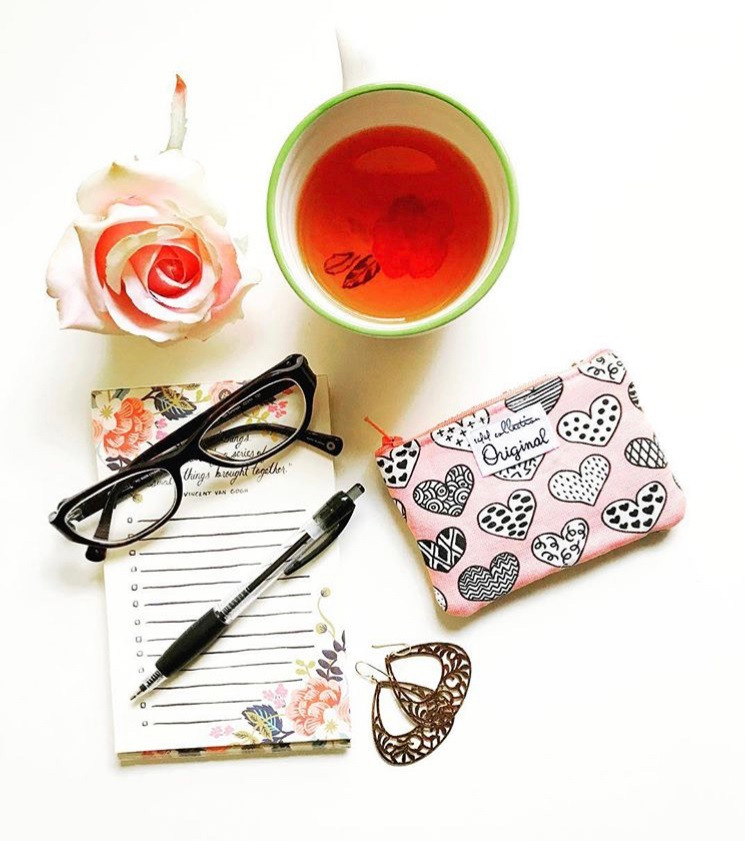 American Made Wallets - Hearts Pink Coin Purse Wallet