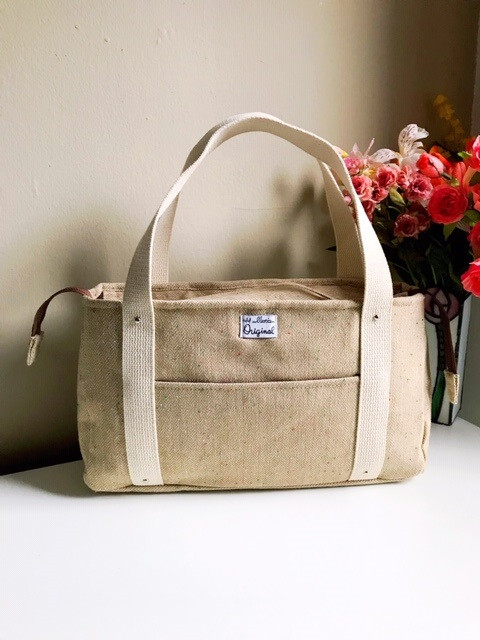 Weekender bag for women - wool tote bag