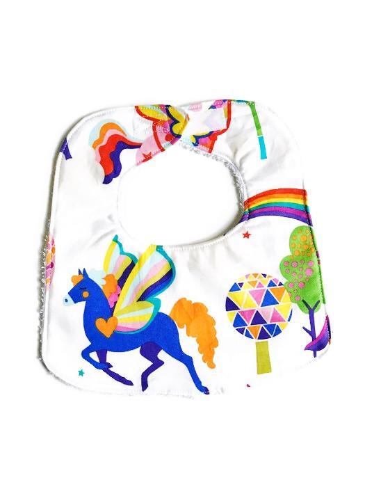 Baby Girl Bibs - Unicorn Print - Handmade Bibs