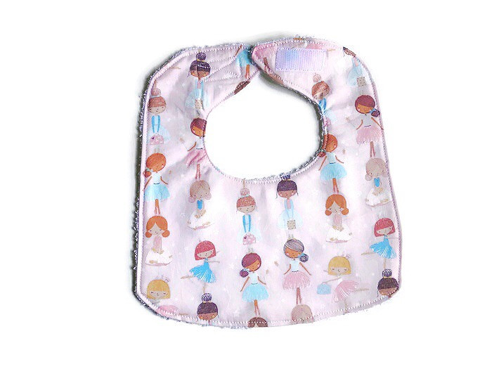 Baby Girl Bib Ballerina Print Fabric