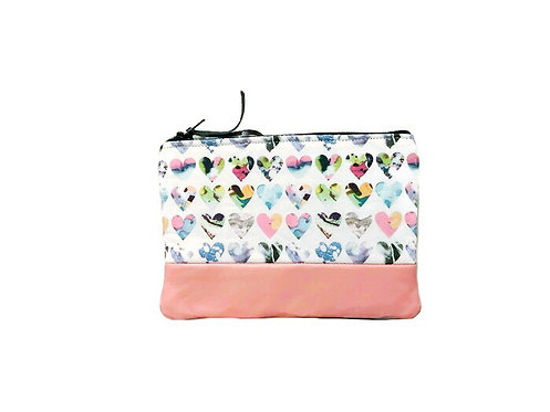 Coin Pouch - Hearts Print