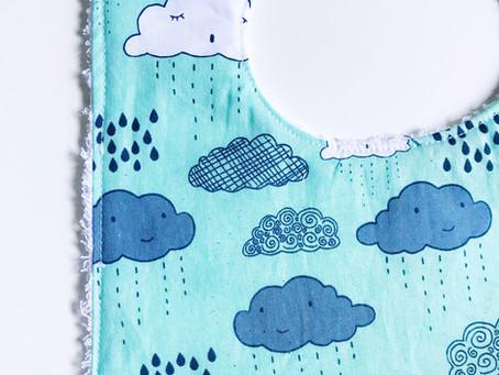 Baby Bibs: Blue Clouds Baby Bib