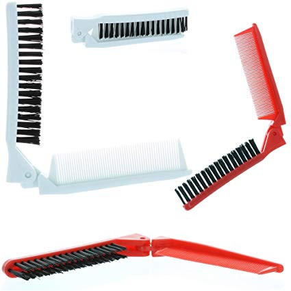 Folding Compact Travel Pocket HAIR BRUSHCOMB