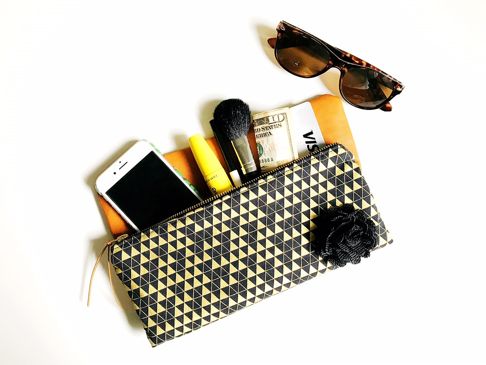 Handmade Clutch - Black and Gold