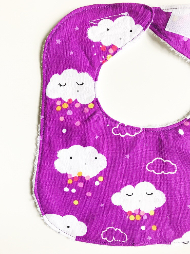 Baby Girl Bibs - Cloud Print
