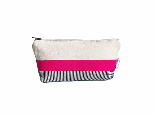 Fuchsia Canvas Zipper Pouch