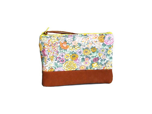 Elysian Floral Small  Leather Pouch