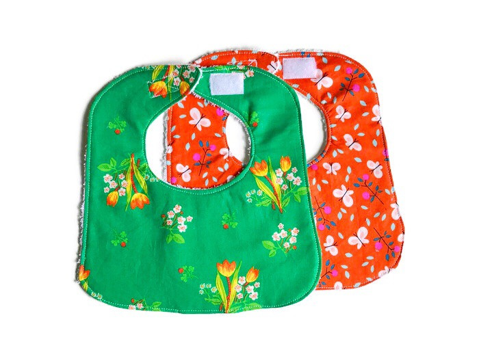 Handmade Baby Bibs and Burp Cloths - Floral Baby Bibs