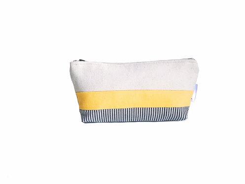Yellow Canvas Zipper Pouch