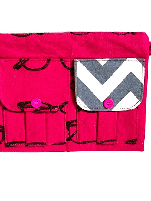 Glasses Pink Wristlet Wallet