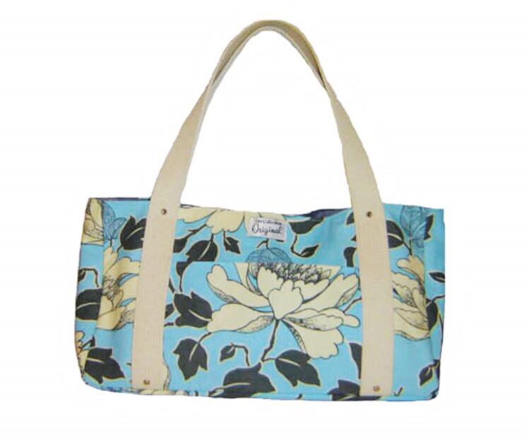 Handmade Bag - Blue and Grey Floral Print
