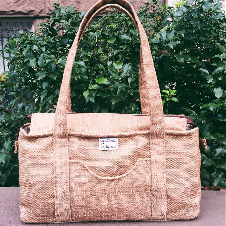 Fabric Handbags Made in the USA - Brown Shoulder Bag for Women