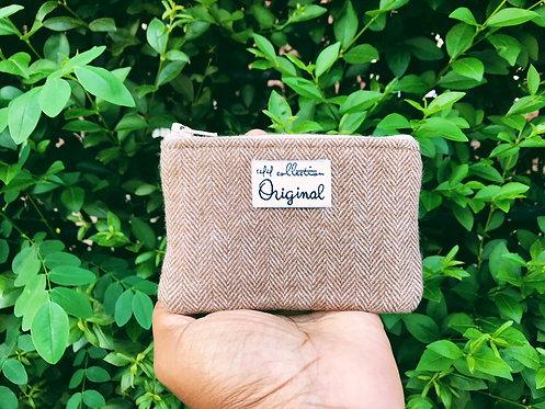 Brown Wool Coin Purse