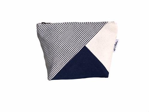 Striped Canvas Makeup Bag