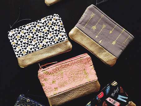 Trendy Metallic Gold Purses and The Leather Guy
