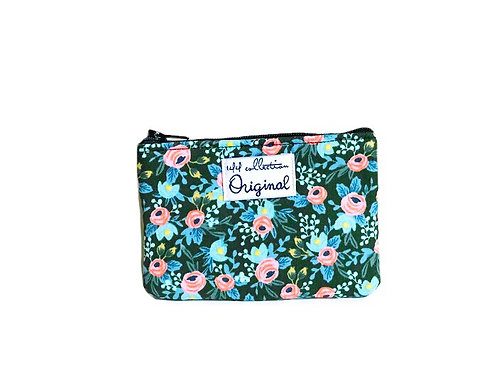 Women's Coin Purse -  Floral Print - Handmade Coin Purse