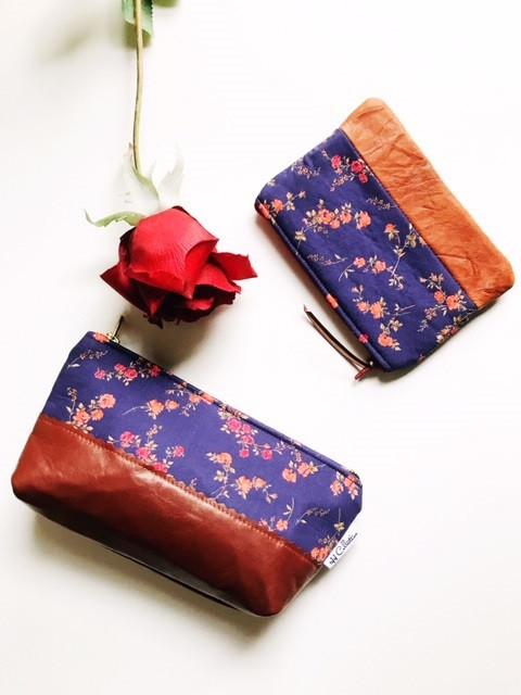 coin purse leather and womens leather makeup bag