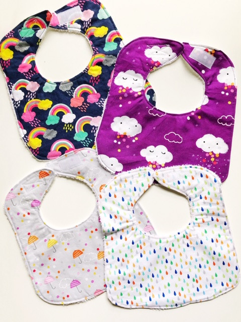 Handmade Baby Bibs for Girls