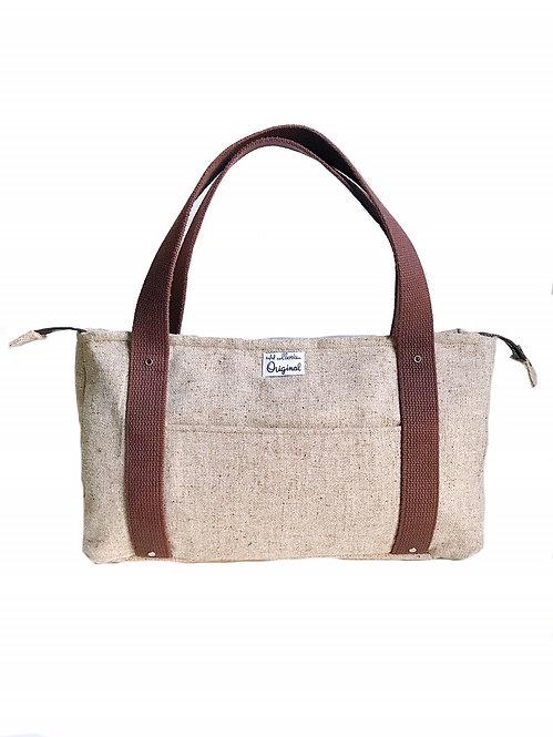 Handmade Handbags - Brown Wool Tweed Bag - Handmade Tote Bag