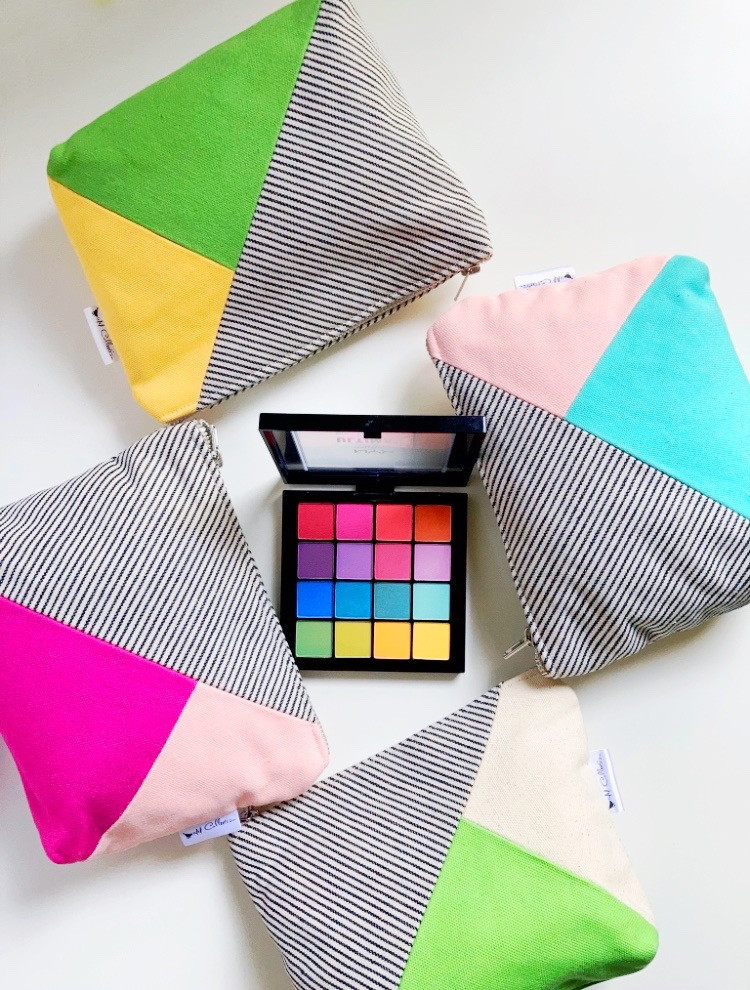 Canvas Makeup Bags and Eyeshadow Palettes