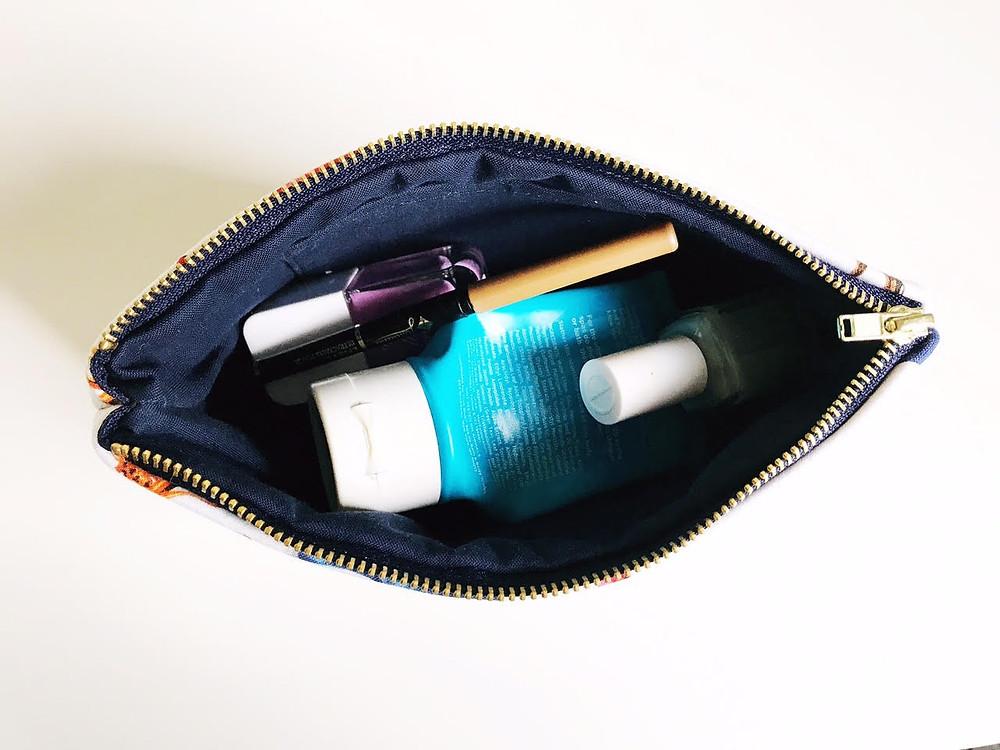 Handmade Makeup Bag Shoes Inside