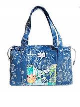 Handmade Bag Blue Anemone Shoulder Bag.j
