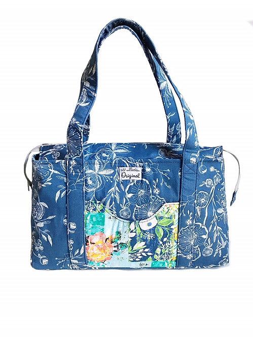 Handmade Handbags - Blue Floral Shoulder Bag - Cloth Purse